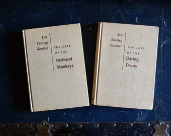 Erle Stanley Gardner Books - Set of 2 - Printed in the United States - Mid Century Vintage - 1950's