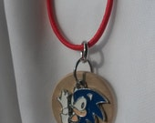 Sonic the Hedgehog, kids diffuser necklace, aromatherapy necklace, essential oil necklace, diffuser necklace, aromatherapy,  Sonic (#EC107)