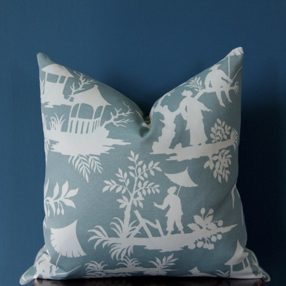 Chinoiserie Pillow Cover Outdoor Pillow Cover Asian Pillow
