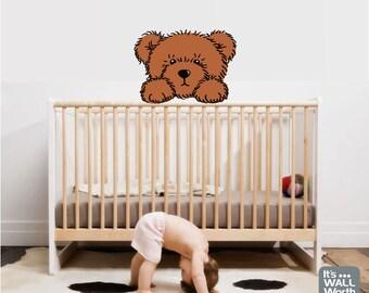 Teddy Bear Vinyl Wall Decal - Nursery or Children's Room Wall Sticker