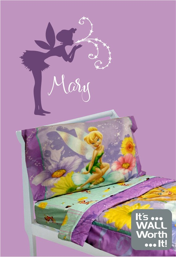 Fairy with Custom Name Vinyl Wall Decal Girl's by ...