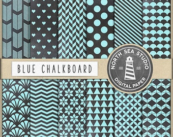 Mix & Match Buy 5 Get 8, Chalkboard Papers, Chalkboard Digital Paper, Chalk Patterns, Polkadot, Quaterfoil, Hearts