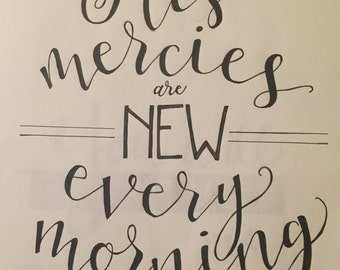 Mercies are New - Customized Wood Sign