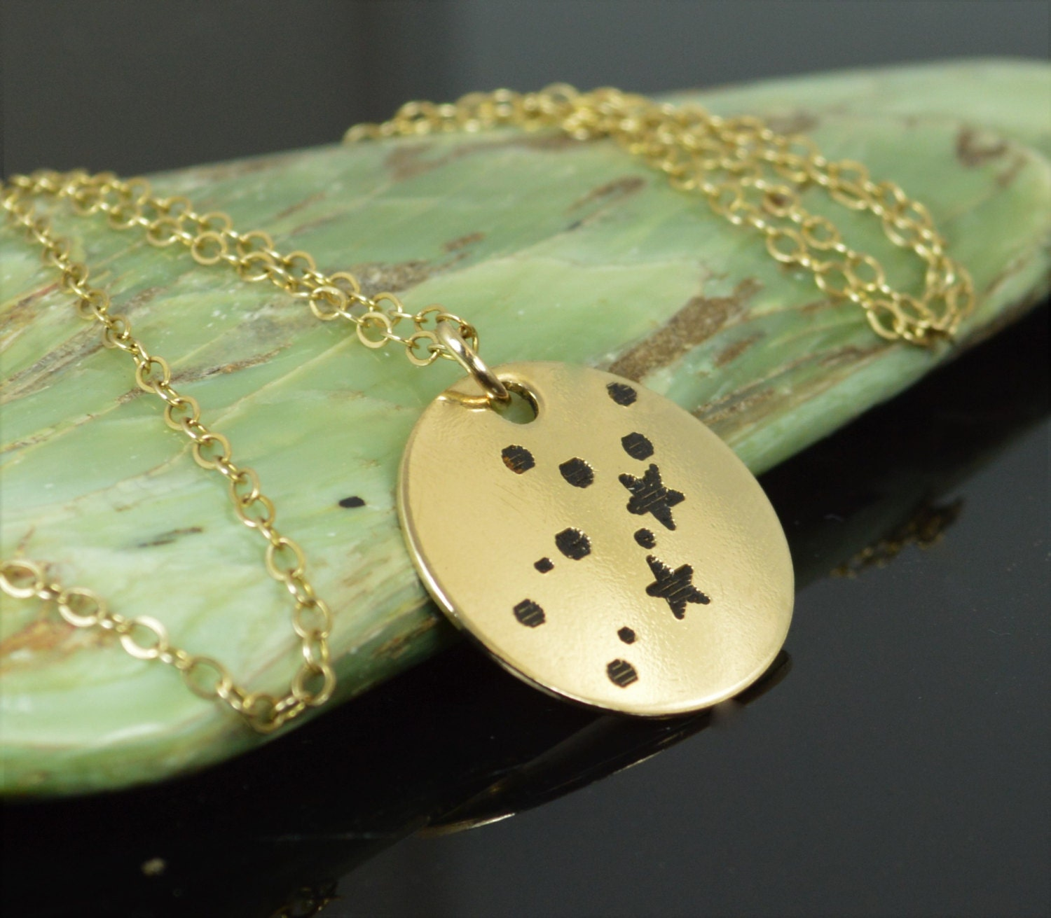 14k gold filled virgo necklace gold virgo necklace gold for Gold filled jewelry