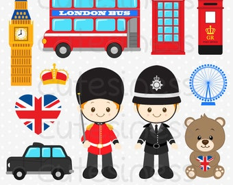London Clipart, England Clipart, United Kingdom Clipart, Britain Clipart