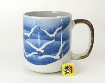 vintage large Seagull stoneware mug