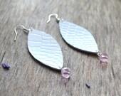 white earrings, leather earrings, white dangle earrings, white earrings, earrings long, boho earrings,long leather earrings