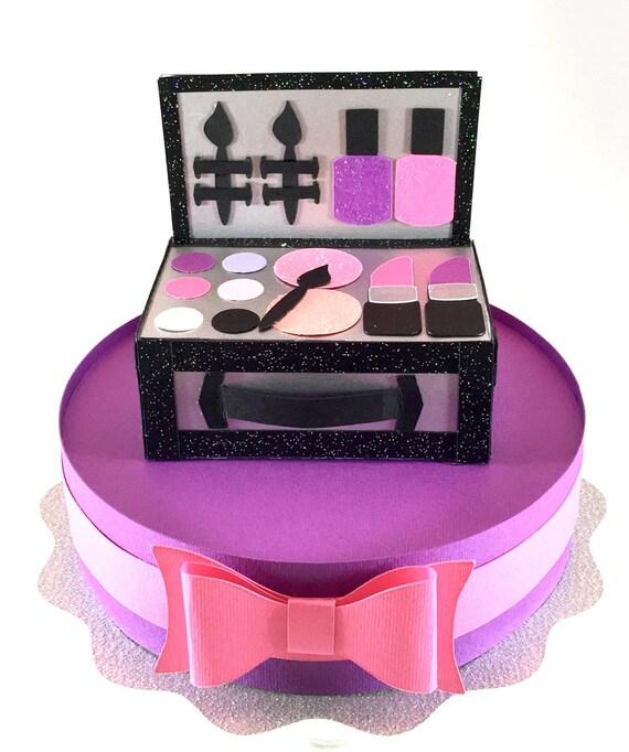 Makeup Kit Cake Images : Makeup kit cake topper