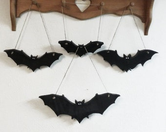 bat hanging decor wall black bats halloween decorations vampire bats gothic style