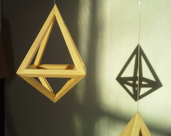 Geometric Wood Himmeli Ornament Wood - Geometry Himmeli