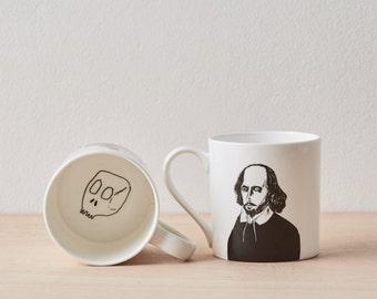 William Shakespeare Bone China Mug, Coffee Mug, Shakespeare quote, ceramic mug, gift for him, gift for her, gift for friend