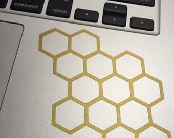 Honeycomb Vinyl Decal, Vinyl Stickers, Laptop Decal, Car Sticker, Laptop Sticker, Car Decal, Beehive Sticker