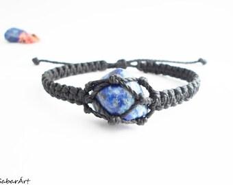 Mens bracelet, jewelry for men, Lapis lazuli bracelet, Lapis lazuli jewelry, mans bracelet, lapiz lazuli, healing stones, for men
