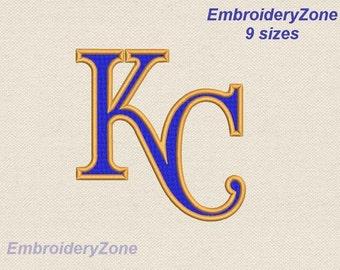Logo Kansas City Royals machine Embroidery designs Simbol Mlb Baseball not appliuque