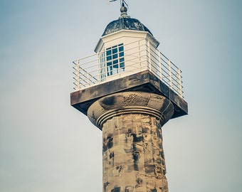 "Lighthouse Photography - Nautical Decor - Beach House - Lighthouse Decor - Coastal Art - Whitby - Coastal Decor - ""Classical Lighthouse"""