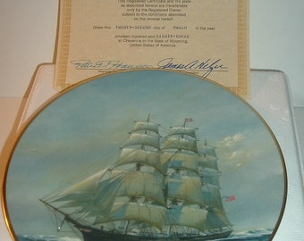 1983 Fleetwood Collection Young America Golden Age of Sail Plate w/ COA