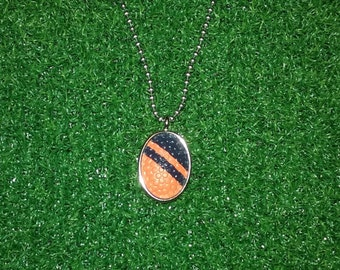 Football Necklace- Orange/Blue