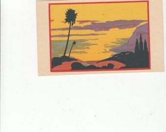 Silkscreen Serigraph Dubosclard/Sheehan Wonderful Color/Santa Barbara Ca Seascape