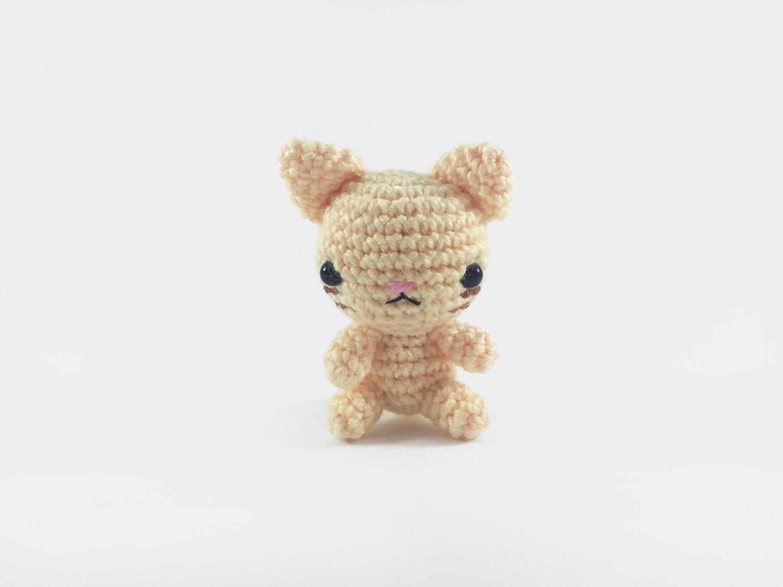 Amigurumi Kitty Mini : Mini Cat Amigurumi Cat Crochet Cat Stuffed Cat Cat Softie