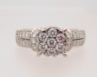 1.50 Carat T.W. Ladies Round Cut Diamond Engagement Ring 14K