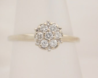 0.25 Carat T.W. Ladies Round Cut Diamond Cluster Ring 14K Gold