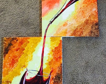 Wine Canvas Acrylic Art/Painting