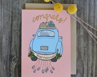 Congrats Wedding Card, Wedding Day Card, Cute Wedding Card