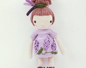 Crochet doll - Lavender girl