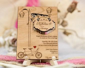 Real wood wedding invitations your design printed on wood stopboris Choice Image