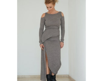 Casual Dress, Cut Out Dress, Long Sleeve Dress, Elegant Dress, Jersey Dress, Designer Dress, High Slit Dress, Plus Size Dress, Maxi Dress