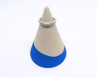 Royal Blue Dipped Wood Ring Stand, Modern Ring Holder, Ring Cone, Minimalist Ring Holder, Wood Ring Cone, Wood Cone, Ring Holder