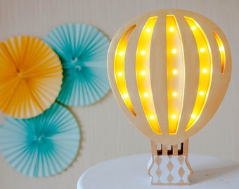 Hot Air Balloon Nursery decor Night light Baby lamp  Baby shower lamp Hot air ballon baby shower