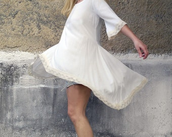 White Summer Top Laced-womens top-peplum top-summer top-lace top-dress-womens dress