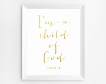 Nursery bible verses, i am a child of god printable, Nursery Bible Verses Print, Nursery Bible Verse Wall Art, Bible Verse Nursery