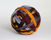 "Dyed to Order: ""Homecoming"" - Golden Yellow, Brown, Reddish Maroon, Light Gray, Dark Gray Stripes"