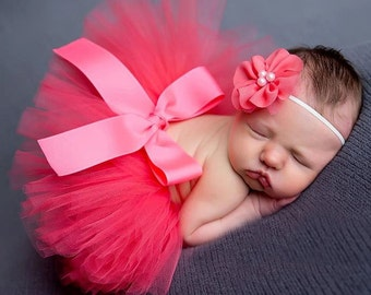Limited time only Hot pink tutu for newborn with headband sale for 10 get it before the sale ends