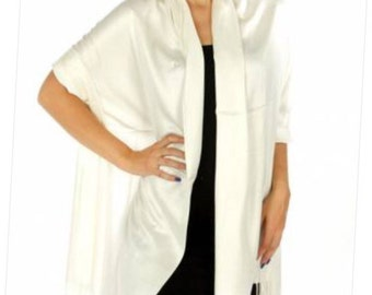 Ivory Pashmina - ivory scarf - ivory cover ups - ivory wedding pashmina - ivory bridal shower favors - ivory wedding favors - ivory shawls