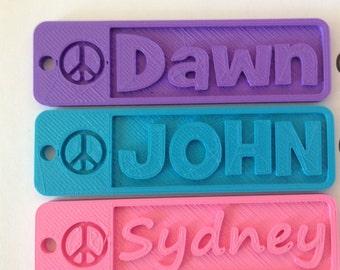 3d printed name tag   Etsy