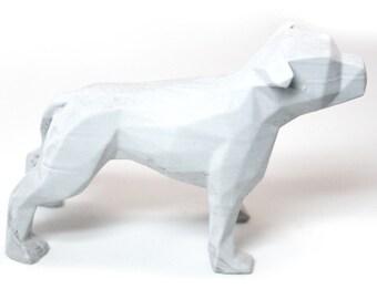 Concrete Pit Bull Sculpture