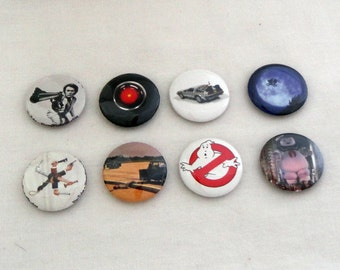 Set of 8-  1 inch Movie buttons