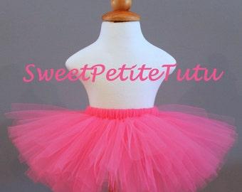 Hot Pink tutu, pink tutu,  Preemie, Newborn to 14/16 teen, Bright Pink Tutu, Baby Tutu, Birthday Tutu, Dark pink tutu, neon pink tutu