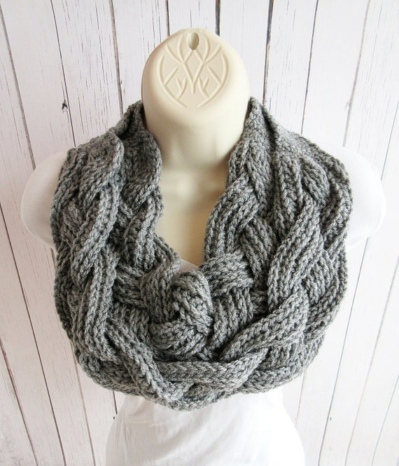 Items similar to Double Layered Braided Crochet Cowl, Crochet Cowl, Braided S...