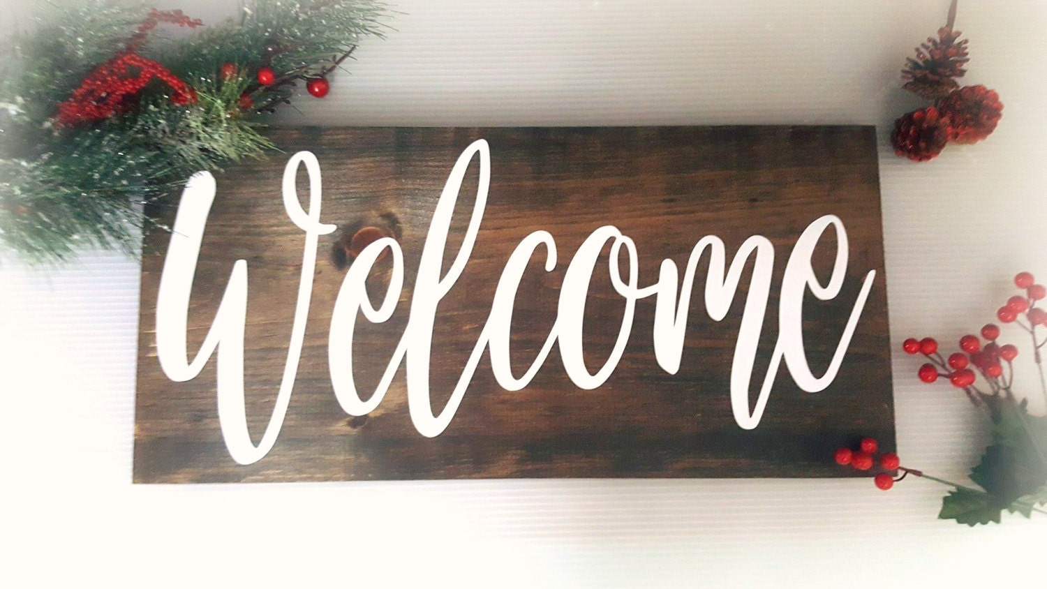 Welcome Sign For Front Porch Large Welcome By Highlanddesignco
