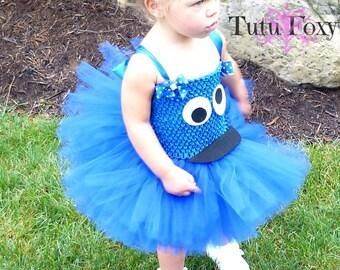 Cookie Monster Tutu Dress, Cookie Monster Costume, Cookie Monster Tutu,  Cookie Monster Dress, Elmo Tutu Dress, Seasame Street Costume