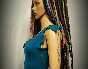 WATER'S EDGE Fae Falls™ OOAK Hair falls- purple dreads,dread falls,festival dreads,cosplay costume,fairy costume,mermaid wig,rave costume
