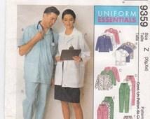 Medical Uniform, Lab Jacket Sewing Pattern, Scrub Uniform Sewing Pattern, Nurse Uniform Sewing Pattern McCall's Sewing Pattern 9359 XL, XXL