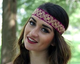 Boho headband,Gypsy headband, hippie headband, Jeweled headband, sequin headband, festival headband