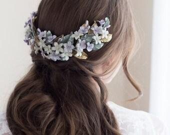 Blossoms headpiece. Bridal headpiece. Wedding headpiece. Bohemian headpiece. Back headpiece. Blossoms headpiece. MOD561 porcelain Crown