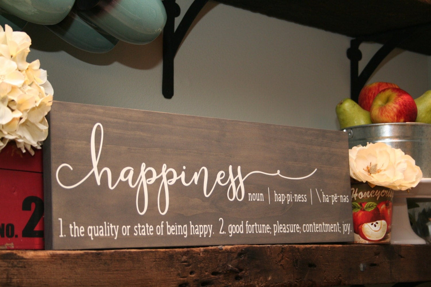 5th Anniversary Gift For Her Wood Sign Happiness Sign
