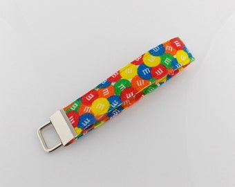 Candy Key Fob M&M Key Fob Candy Key Holder Teacher Key Fob Candy ID Badge Holder M and M Key Fob Candy Car Key Ring